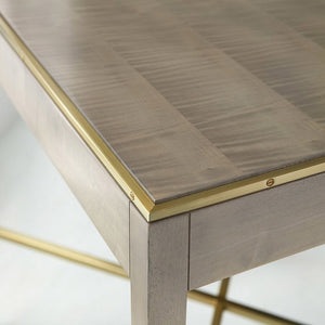 Modern History Large Georgian End Table-Grey Sycamore