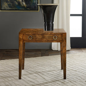 Modern History Mid Century End Table-Lacewood
