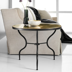 Modern History Wrought Iron End Table - Lavender Fields