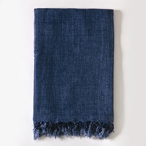 Pom Pom at Home Montauk Throw - Indigo - Lavender Fields