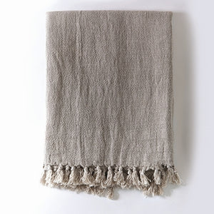 Pom Pom at Home Montauk Throw - Natural - Lavender Fields