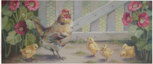 Christie Repasy Morning Stroll Original Canvas Print - Lavender Fields