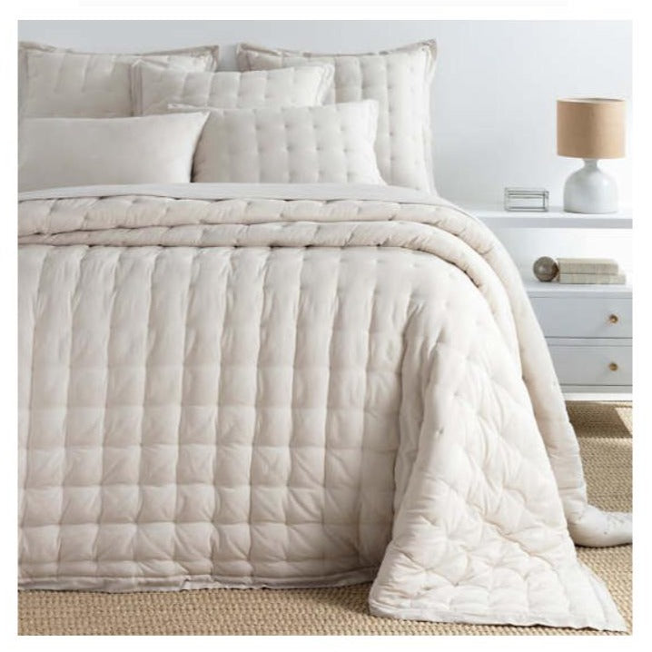 Pine Cone Hill Comfy Cotton Natural Puff - Lavender Fields