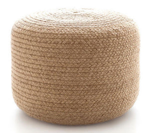 Fresh American Braided Natural Pouf - Lavender Fields