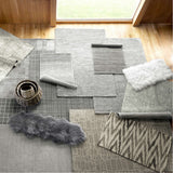Dash and Albert Niels Grey Woven Wool/Viscose Rug - Lavender Fields