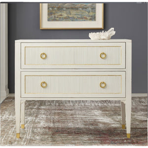 Modern History Swedish Reeded Two Drawer Chest