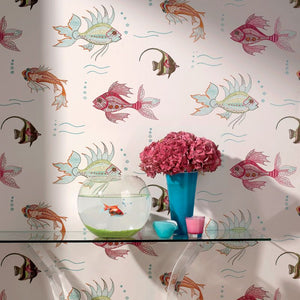 Nina Campbell Aquarium Wallpaper Sample - Lavender Fields