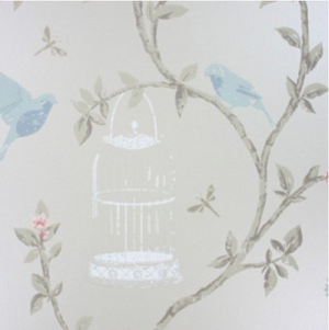 Nina Campbell Birdcage Walk Wallpaper Sample - Lavender Fields