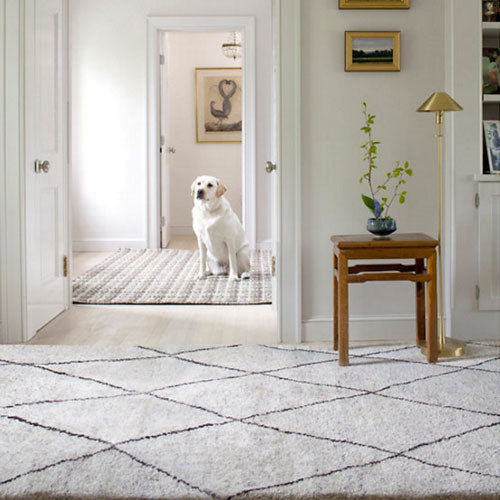 Dash and Albert Numa Charcoal Hand Knotted Rug - Lavender Fields