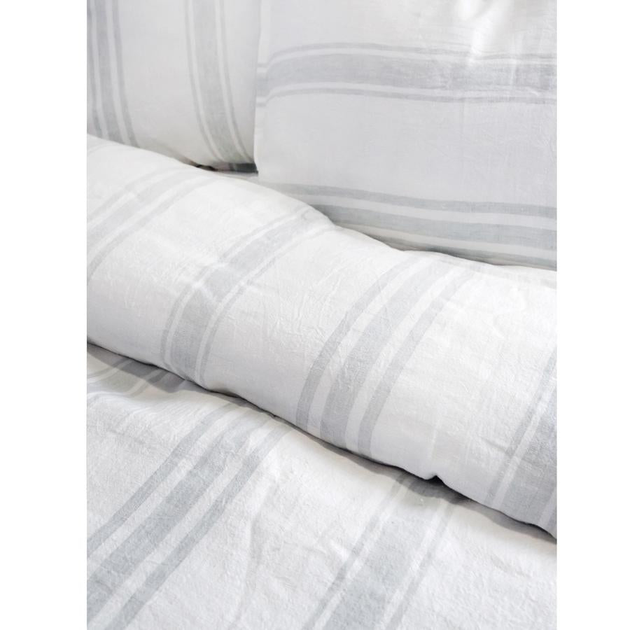 Pom Pom at Home Jackson White/Ocean Stripe Pillow Sham