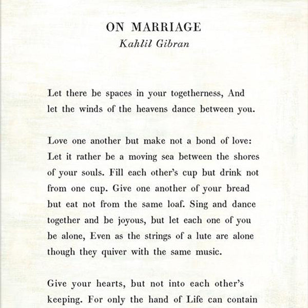 Sugarboo Designs On Marriage Poetry Collection Gallery Wrap