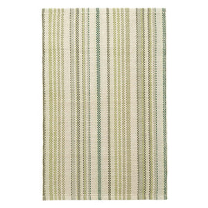 Dash and Albert Oslo Stripe Green Woven Cotton Rug - Lavender Fields