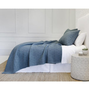 Pom Pom at Home Oslo Blue Denim Coverlet - Lavender Fields