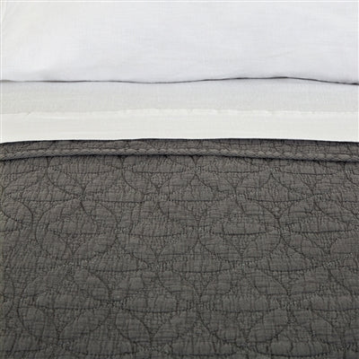 Pom Pom at Home Oslo Grey Denim Coverlet