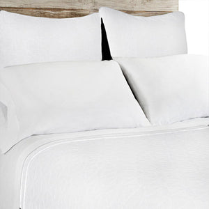 Pom Pom at Home Oslo White Large Euro Sham
