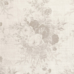 Kate Forman Roses Oyster Floral Fabric - Lavender Fields
