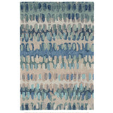 Dash and Albert Paint Chip Blue Micro Hooked Wool Rug - Lavender Fields