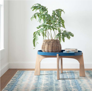 Dash and Albert Paint Chip Blue Micro Hooked Wool Rug