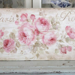 """Paris Roses"" on Wood by Debi Coules - Lavender Fields"