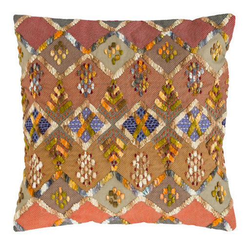 Pine Cone Hill Kenya Embroidered Pillow - Lavender Fields