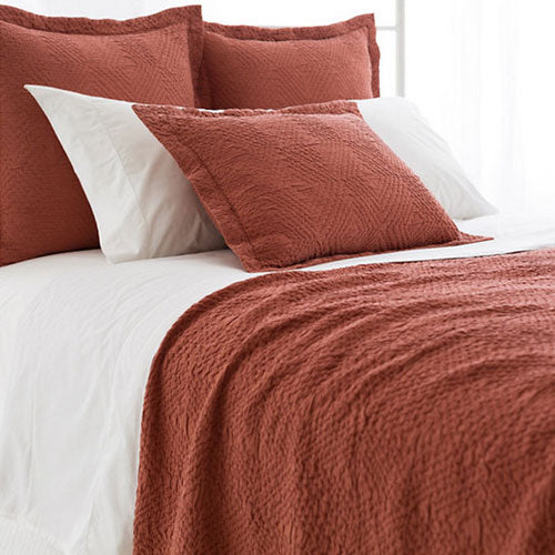 Pine Cone Hill Kerala Spice Matelasse Coverlet - Lavender Fields
