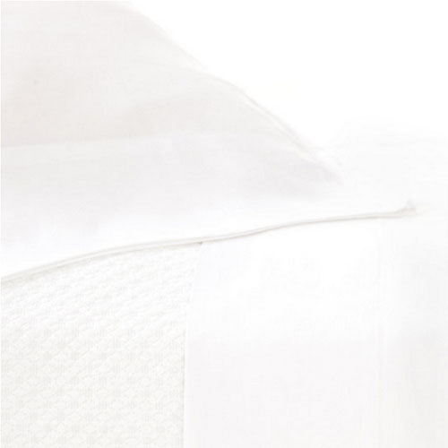 Pine Cone Hill Silken Solid White Pillowcases (Pair) - Lavender Fields