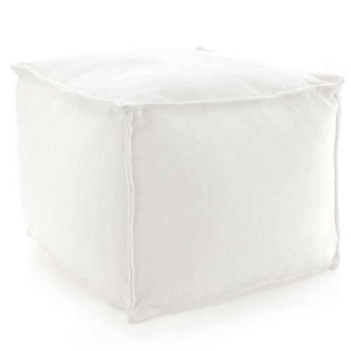 Fresh American Solid White Indoor/Outdoor Pouf