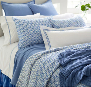 Pine Cone Hill Tyler French Blue Quilted Sham - Lavender Fields