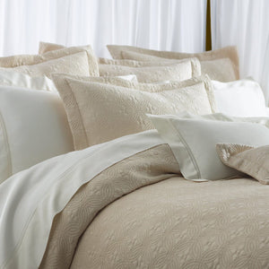 Peacock Alley Lucia Coverlet in Champagne
