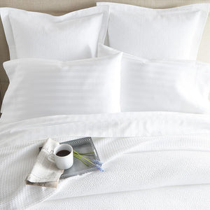 Peacock Alley Montauk Coverlet in White