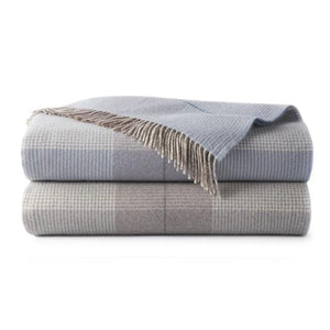 Peacock Alley York Plaid Throw Blanket - Lavender Fields