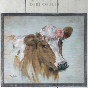 "Rustic Farmhouse Barnwood Framed/Printed on Wood ""Penelope"" by Debi Coules"