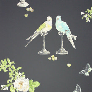 Nina Campbell Perroquet Wallpaper Sample - Lavender Fields