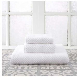 Pine Cone Hill Adobe White Towel - Lavender Fields