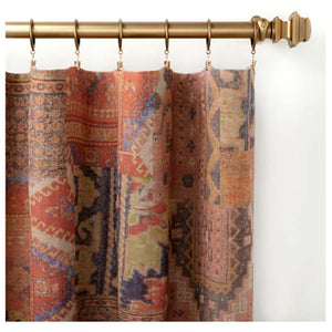Pine Cone Hill Anatolia Linen Curtain Panel - Lavender Fields