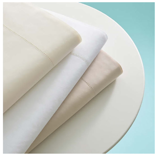 Pine Cone Hill Classic Hemstitch White Sheet Set - Lavender Fields
