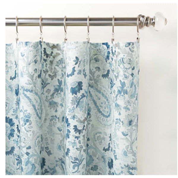 Pine Cone Hill Ines Linen Blue Curtain Panel