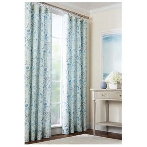 Pine Cone Hill Ines Linen Blue Curtain Panel - Lavender Fields