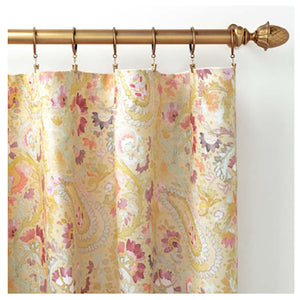 Pine Cone Hill Ines Linen Curtain Panel - Lavender Fields