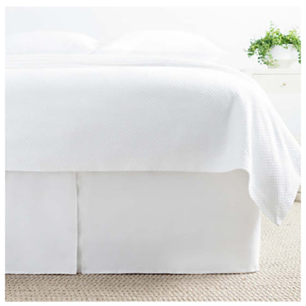 Pine Cone Hill Lush Linen Ivory Bedskirt - Lavender Fields