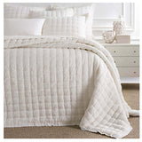 Pine Cone Hill Lush Linen Ivory Puff Sham - Lavender Fields