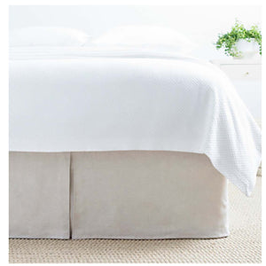 Pine Cone Hill Lush Linen Natural Bedskirt - Lavender Fields