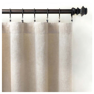 Pine Cone Hill Lush Linen Natural Curtain Panel - Lavender Fields
