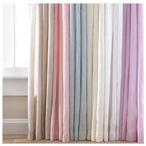 Pine Cone Hill Lush Linen Sky Curtain Panel