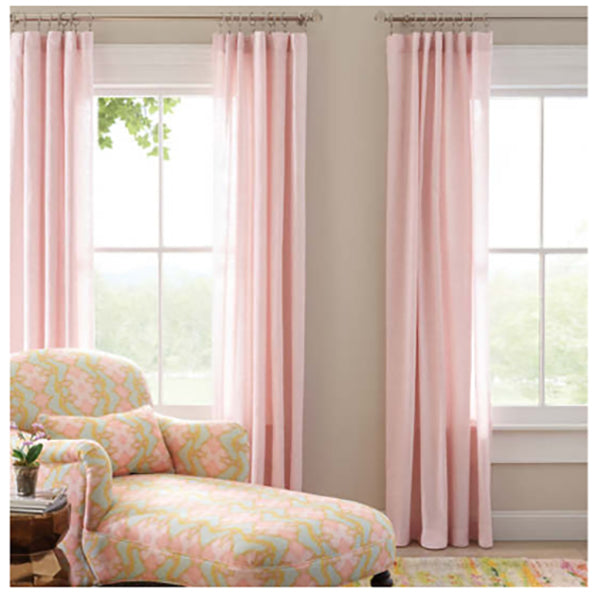 Pine Cone Hill Lush Linen Slipper Pink Curtain Panel