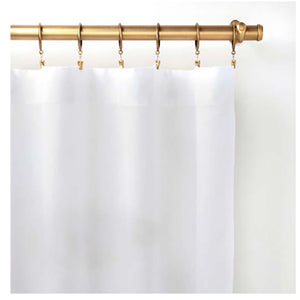 Pine Cone Hill Lush Linen White Curtain Panel - Lavender Fields