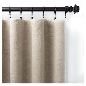 Pine Cone Hill Stone Washed Linen Natural Curtain Panel - Lavender Fields