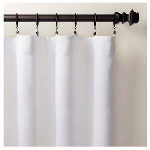 Pine Cone Hill Stone Washed Linen White Curtain Panel