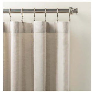 Pine Cone Hill Striped Sheer Natural Curtain Panel