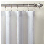 Pine Cone Hill Striped Sheer White Curtain Panel